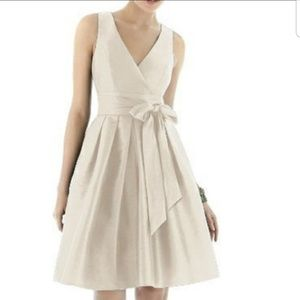 NWT Alfred Sung Cocktail Length Dress in Ivory